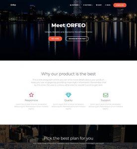 Orfeo WordPress Multipurpose Theme